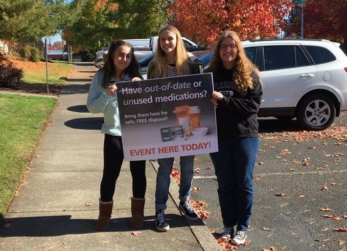 Picture of a team of youth at drug take back event